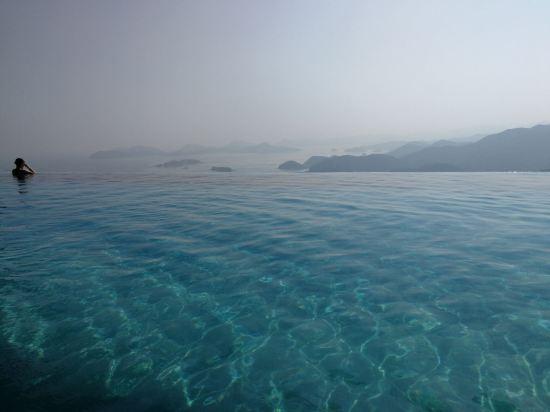 深圳酒店无边泳池2